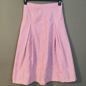 Vintage 90's Pink Seer Sucker Pleated Skirt